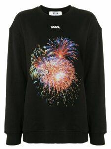 MSGM fireworks sweatshirt - Black