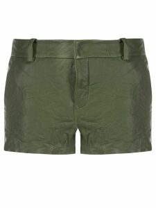 Zadig & Voltaire crumpled Simio shorts - Green