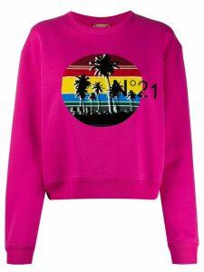 Nº21 Palm tree sweatshirt - PINK