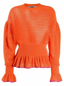 MSGM peplum hem jumper - ORANGE