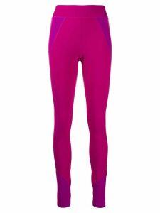 Isabel Marant contrast-panel high-rise leggings - PINK