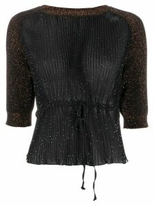 Marco De Vincenzo cinched waist top - Black