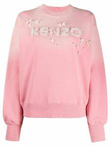 Kenzo embellished logo sweatshirt - PINK