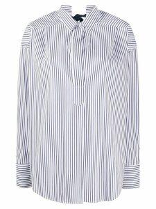 Ermanno Scervino striped poplin tunic shirt - White
