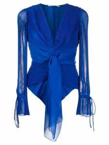 Marco De Vincenzo pussy bow blouse - Blue