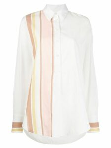 Victoria Victoria Beckham striped oversized shirt - White