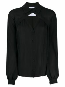 Moschino cut-out shirt blouse - Black