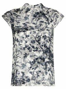 Erdem opal printed silk blouse - Blue