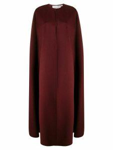 Valentino long cape coat - Brown