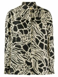 Alberta Ferretti animal print blouse - NEUTRALS