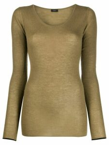 Joseph scoop neck sweater - Green