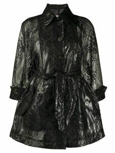 Antonio Marras transparent lace print coat - Black