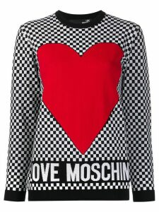 Love Moschino heart print jumper - White