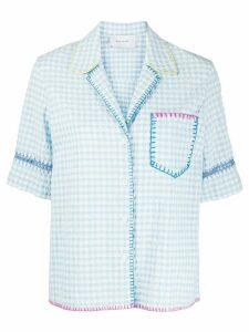 Mira Mikati gingham print shirt - Blue