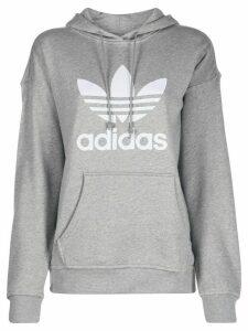 adidas trefoil print hoodie - Grey