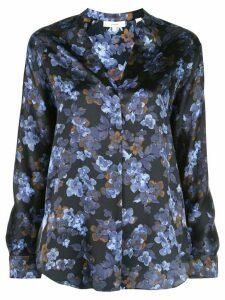 Vince Plumeria Blooms-print silk shirt - Blue