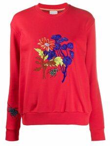 Paul Smith floral-embroidered crew neck sweatshirt