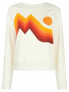 Mother sunset-print cotton sweatshirt - White