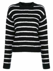 Vince striped bouclé relaxed-fit jumper - Blue
