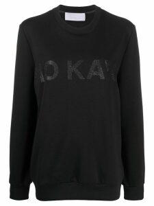 No Ka' Oi glitter logo sweatshirt - Black