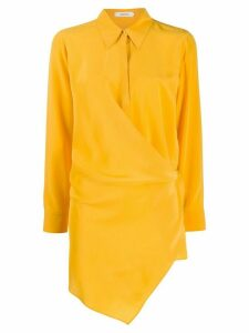 Dorothee Schumacher long sleeve contrasting panel silk blouse - Yellow