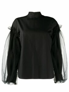 Comme Des Garçons Noir Kei Ninomiya layered sleeve blouse - Black