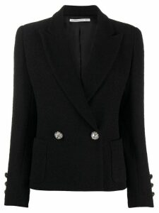 Alessandra Rich fitted double-breasted blazer - Black