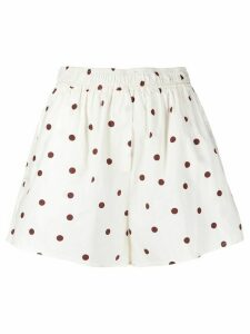 GANNI polka dot shorts - White