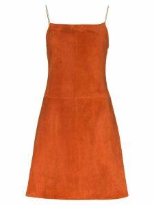 Rosetta Getty flared mini dress - Brown