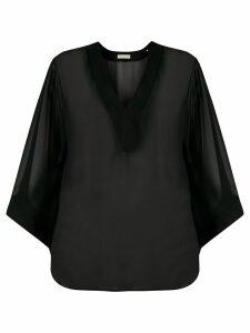 Emilio Pucci sheer fluid blouse - Black
