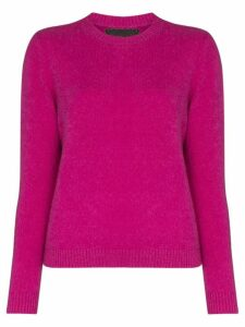 The Elder Statesman cropped cashmere sweater - PURPLE