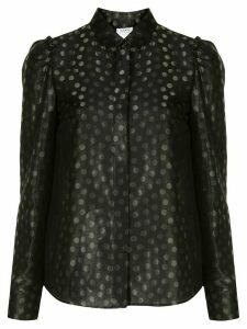 Akris Punto dot jacquard puff-sleeve shirt - Black