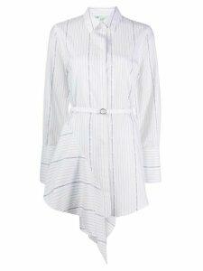 Off-White striped asymmetric mini shirt dress