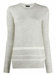 Joseph striped-hem longline sweater - Grey