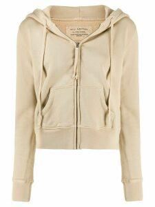 Nili Lotan Callie zip front hoodie - NEUTRALS