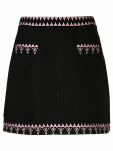 Cynthia Rowley Nicola tweed mini skirt - Black