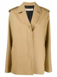 Marni contrast-stitch straight cut jacket - NEUTRALS