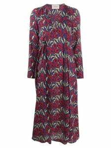 La Doublej poppy print shift dress - Blue