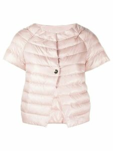 Herno short-sleeved quilted jacket - PINK