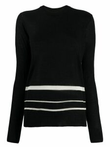 Joseph striped-hem longline sweater - Black