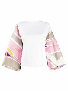 Emilio Pucci Ciwara-printed sleeves blouse - White