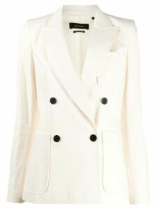 Isabel Marant double breasted patch-pocket blazer - NEUTRALS