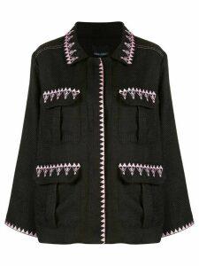 Cynthia Rowley Damen multi-pocket jacket - Black