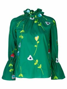 Cynthia Rowley Aurelia embroidered blouse - Green