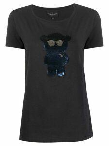 Emporio Armani Bear-logo T-shirt - Blue