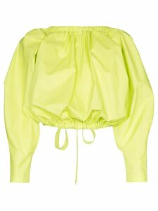 Molly Goddard open-back drawstring crop top - Green