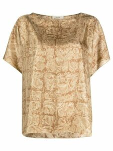 The Row all-over print motif blouse - NEUTRALS