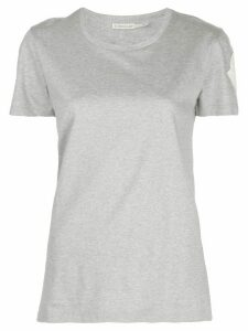 Moncler logo-patch crew neck T-shirt - Grey