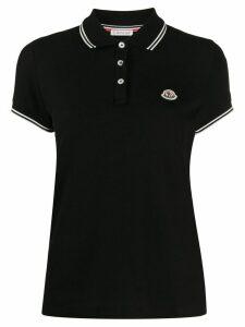 Moncler logo patch polo shirt - Black