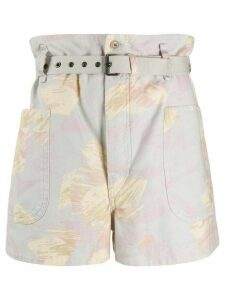Isabel Marant Étoile Rike abstract print shorts - Grey